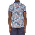 Flower Motif Polo Shirt, ${color}