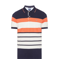 Stripe Piqué Polo Shirt