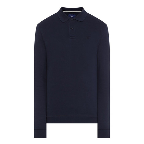 Long Sleeved Piqué Polo Shirt, ${color}