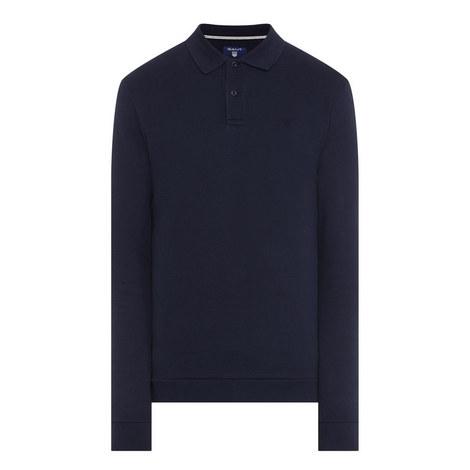 Long Sleeved Piqué Polo Shirt, ${color}