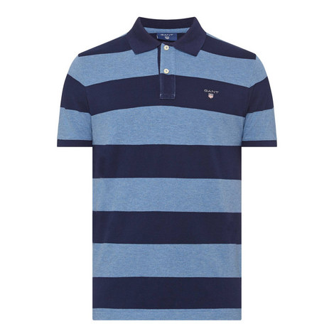 Bar Stripe Pique Polo Shirt, ${color}