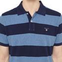 Bar Stripe Pique Polo Shirt, ${color}