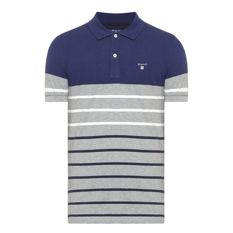 Drop Stripe Piqué Polo Shirt, ${color}