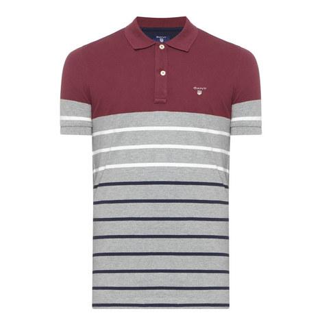Drop Stripe Piqué Polo Shirt, ${color}