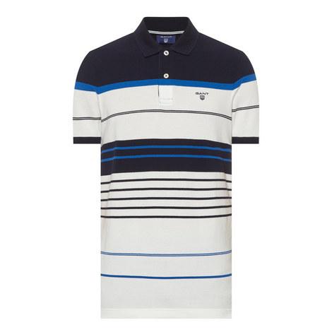 Striped Piqué Polo Shirt, ${color}