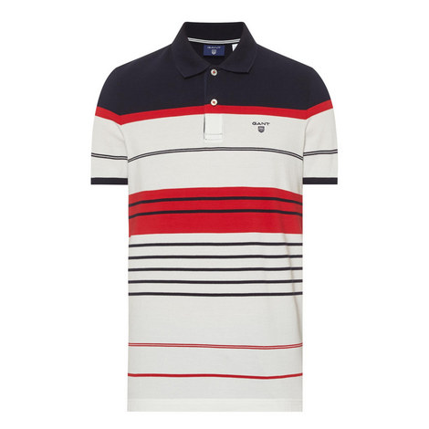 Striped Piqué Polo Shirt, ${color}