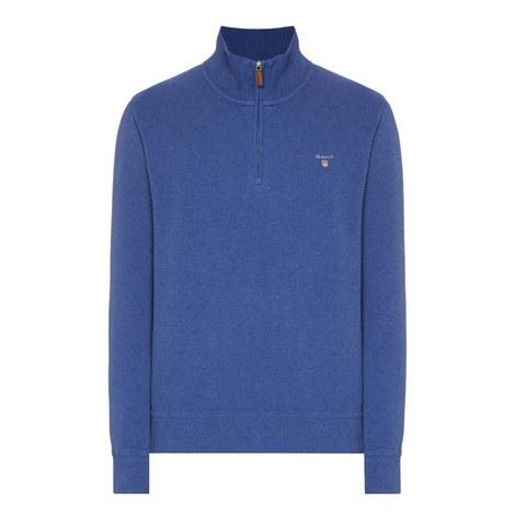 Sacker Ribbed Half-Zip Sweatshirt, ${color}