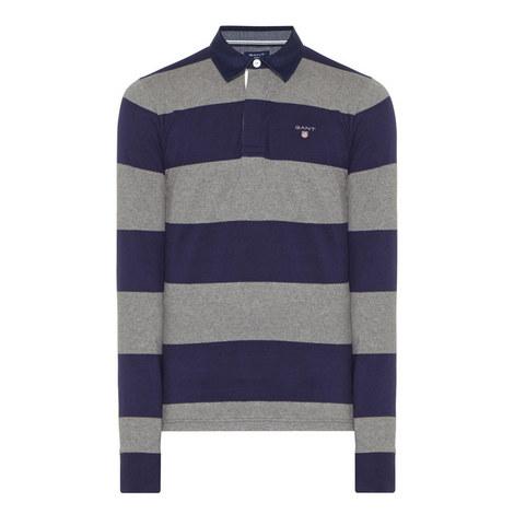 Long-Sleeved Stripe Polo Shirt, ${color}