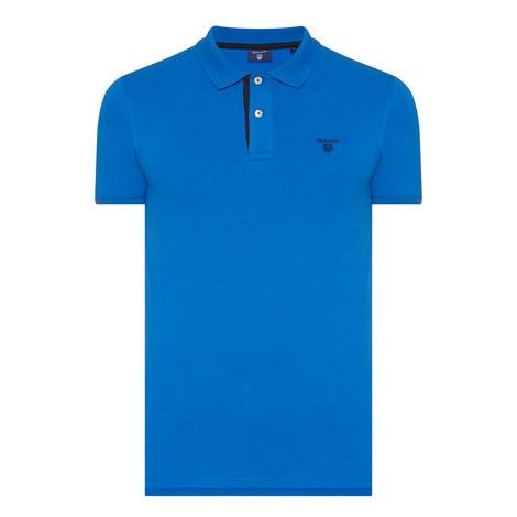 Contrast Collar Piqué Polo, ${color}