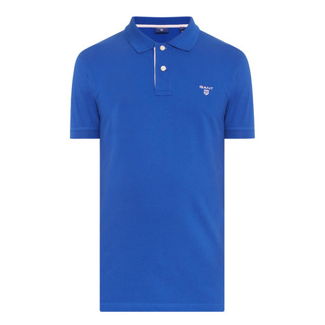 Contrast Collar Piqué Polo Shirt , ${color}