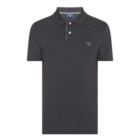 Contrast Collar Piqué Polo Shirt, ${color}