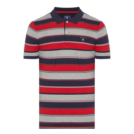 GREY RED NAVY STRIPE POLO SHRT, ${color}