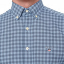 Gingham Dot Print Shirt, ${color}