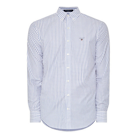 Doby Check Print Shirt, ${color}