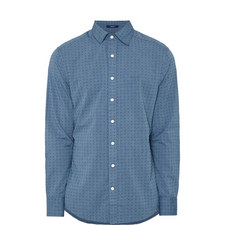Regular Fit Dobby Pattern Shirt