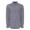 Mix Weave Gingham Shirt , ${color}