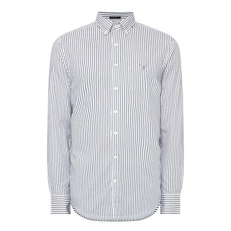Mix Weave Stripe Shirt , ${color}