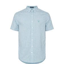 Short-Sleeved Oxford Check Shirt