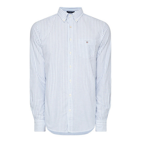Oxford Banker Stripe Shirt, ${color}