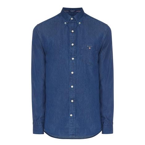 Chambray Regular Fit Shirt, ${color}