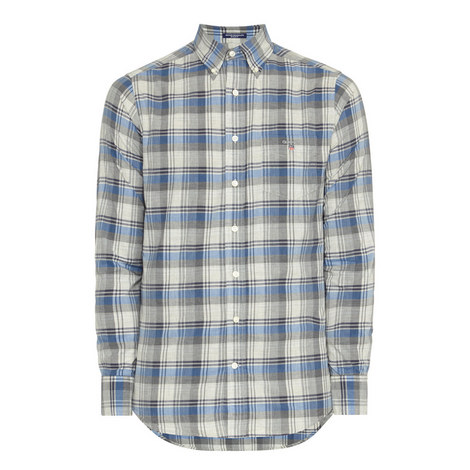 Heather Plaid Broadcloth Shirt, ${color}