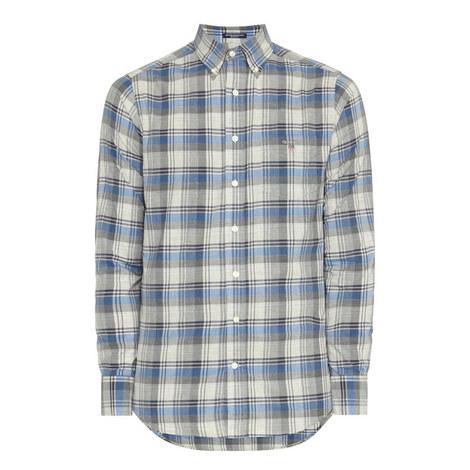 Heather Plaid Broadcloth Shirt, ${color}