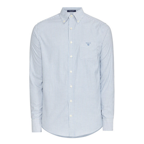 Comfort Oxford Banker Stripe Shirt, ${color}