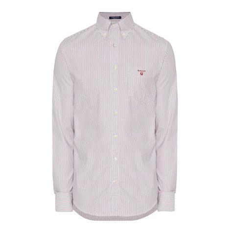 Oxford Banker Stripe Shirt, ${color}