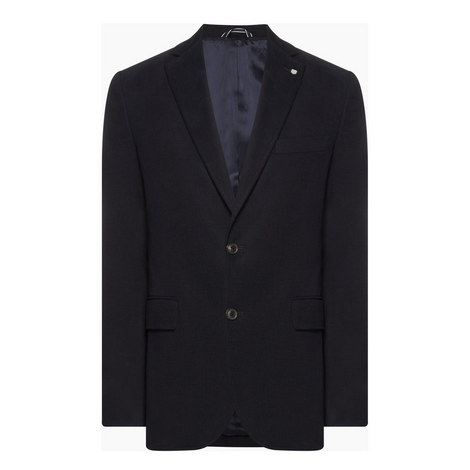 Single Breasted Twill Blazer, ${color}