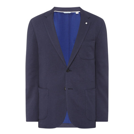 Slim Fit Piqué Blazer, ${color}