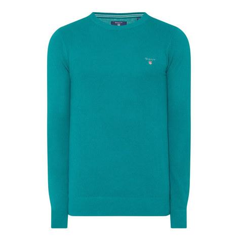 Cotton Piqué Sweatshirt, ${color}