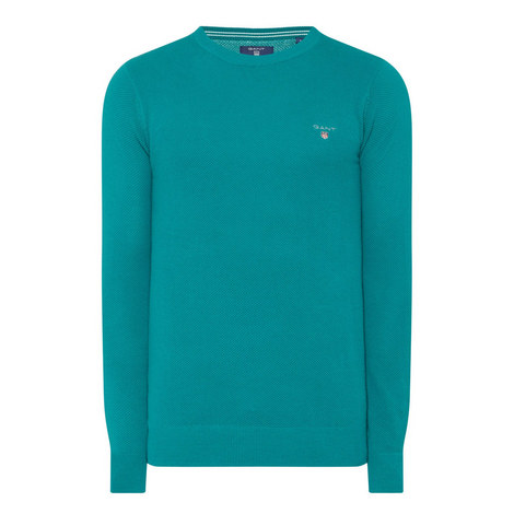 Cotton Pique Sweatshirt, ${color}