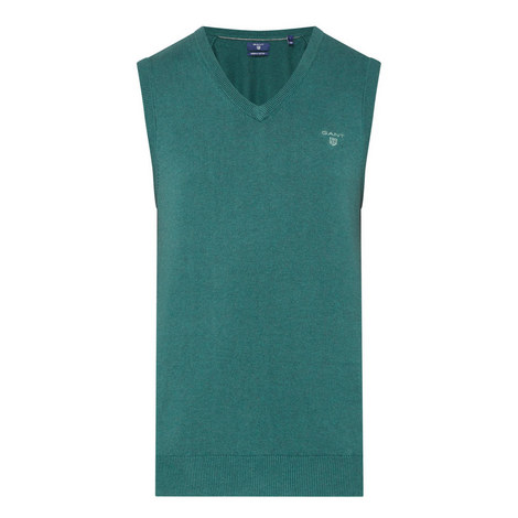 Sleeveless Knitwear V-Neck, ${color}
