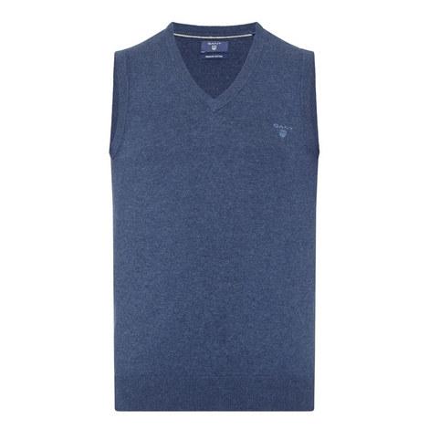 Logo Cotton Sweater Vest, ${color}