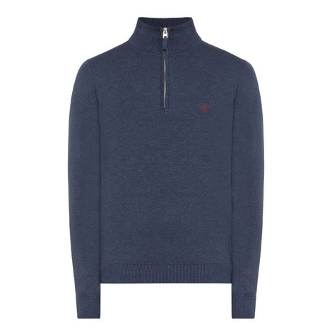 Half Zip Knitted Sweater, ${color}