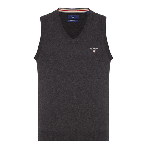 V-Neck Sleeveless Sweater, ${color}