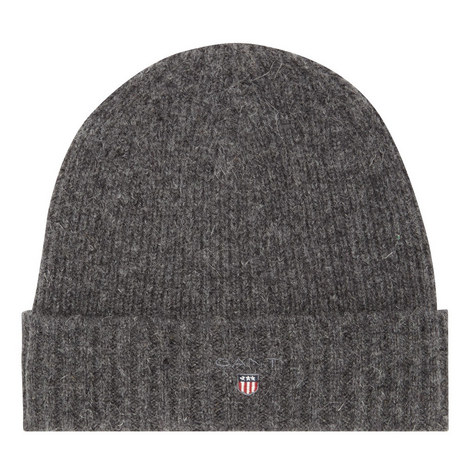 Ribbed Wool Mix Hat, ${color}
