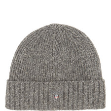 Ribbed Wool Mix Hat