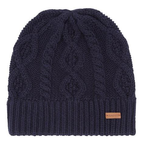 Cable Knit Beanie Hat, ${color}