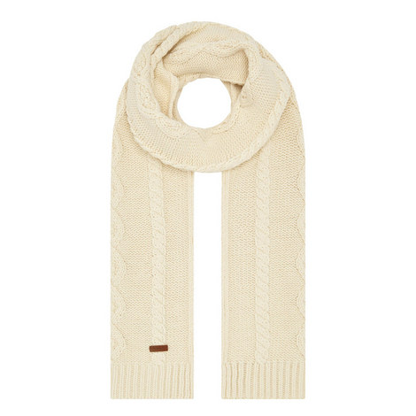 Cable Knit Scarf, ${color}