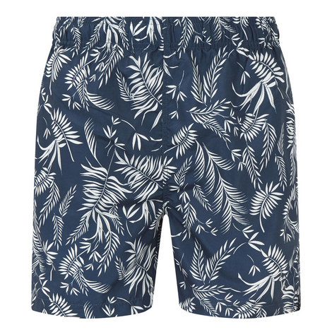Leaf Print Swim Shorts, ${color}