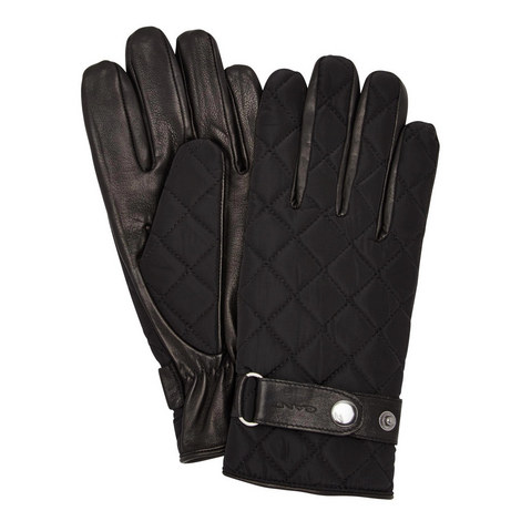 Quilted Front Leather Gloves, ${color}