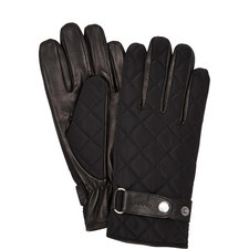 Quilted Front Leather Gloves