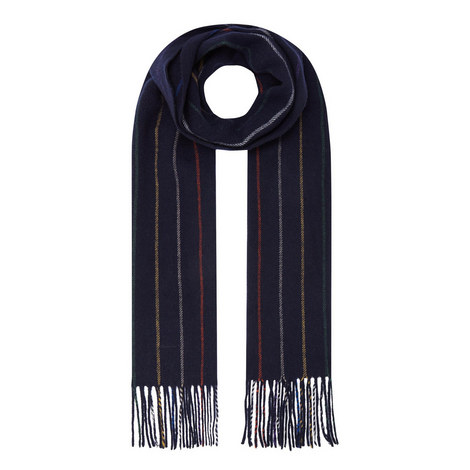 Multi-Stripe Wool Scarf, ${color}