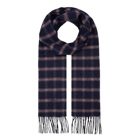 Check Wool Mix Scarf, ${color}