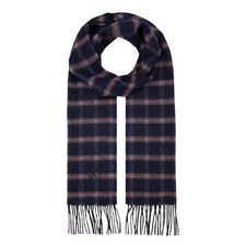 Check Wool Mix Scarf