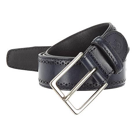 Embossed Leather Belt, ${color}