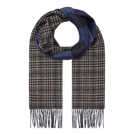 Double Face Check Scarf, ${color}