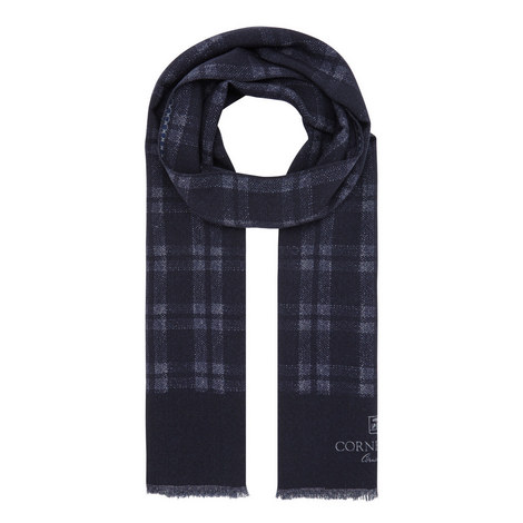 Double Sided Check Scarf, ${color}
