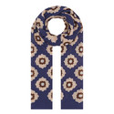 Floral Print Wool Scarf, ${color}